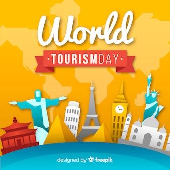 Kreativer tourismus tag hintergrund
