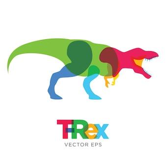 Kreativer tyrannosaurus rex dinosaurier-tier-entwurf Premium Vektoren