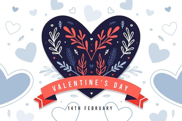 Kreativer valentinstaghintergrund