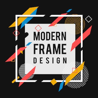 Kreativer vektor-moderner memphis-rahmen