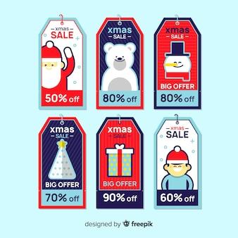 Kreativer weihnachtsverkauf-markensatz