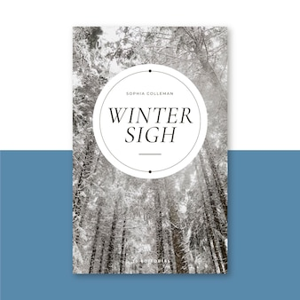 Kreativer winterbuchumschlag