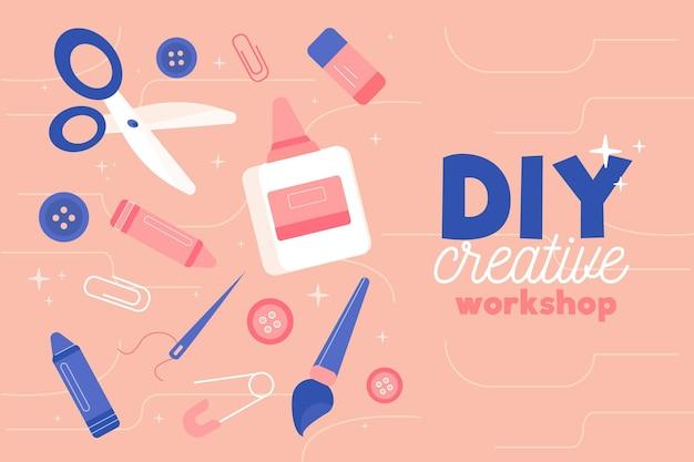 Kreativer workshop und leidenschaft machen es selbst