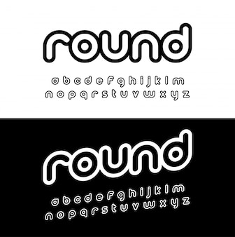 Kreatives abgerundetes alphabet.
