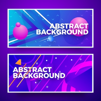 Kreatives abstraktes netzfahnen-hintergrunddesign