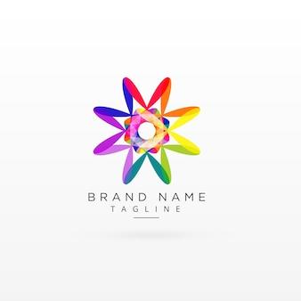 Kreatives abstraktes vibrierendes logoentwurf