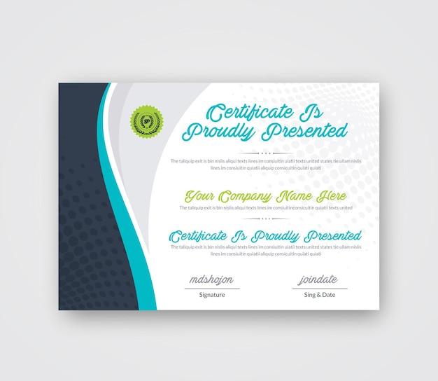 Kreatives abstraktes zertifikatsdesign