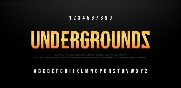 Kreatives alphabet des modernen sansserif-gusses