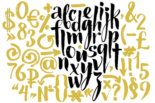 Kreatives alphabet design