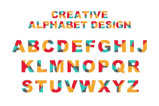 Kreatives alphabet