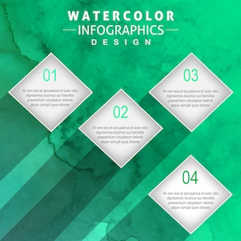 Kreatives Aquarell Infographics Design