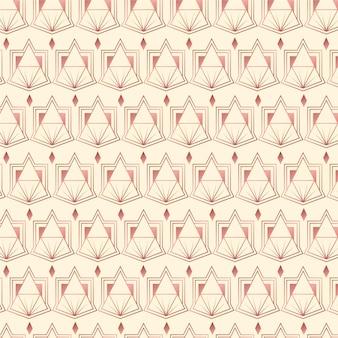 Kreatives art-deco-muster aus roségold