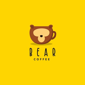 Kreatives bärenkaffee-logo