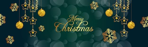 Kreatives banner für frohe weihnachten und ein frohes neues jahr
