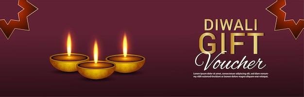 Kreatives banner oder header von happy diwali