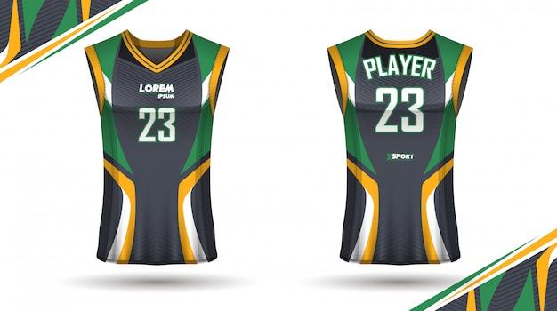 Kreatives basketball-shirt-design, vorder- und rückseite