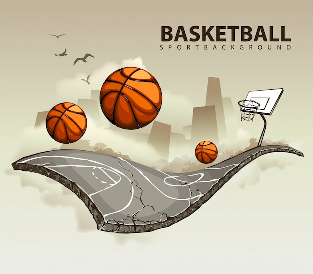 Kreatives basketballdesign