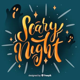 Kreatives beängstigendes nachthalloween-briefgestaltung