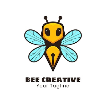 Kreatives bienenlogo-design