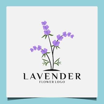 Kreatives botanisches blumen-lavendel-logo-design für ihren geschäftssalon, spa, kosmetik, kräuter