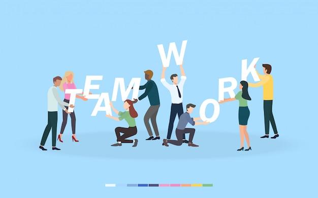Kreatives brainstorminggeschäftsteamwork-konzept für teambildung