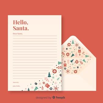 Kreatives brief- und umschlagkonzept für weihnachten
