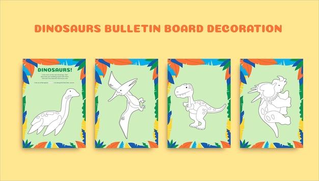 Kreatives buntes arbeitsblatt zur dekoration von pre-k-pinnwänden