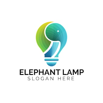 Kreatives buntes ideen-elefantenlogo