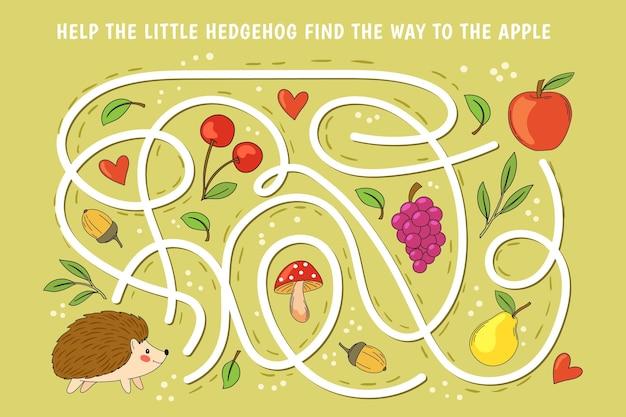 Kreatives buntes labyrinth für kinder