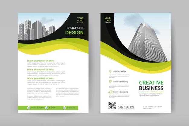 Kreatives business-broschürendesign