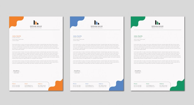 Kreatives business letterhead design