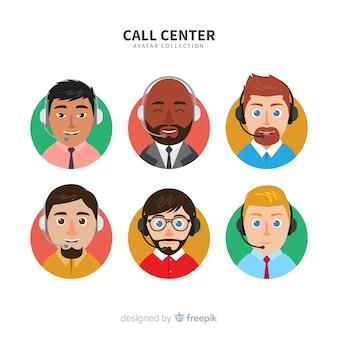 Kreatives call-center-avatara-set