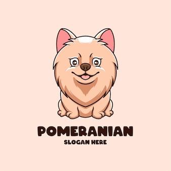 Kreatives cartoon-hundehaustiergeschäft-maskottchen-nettes tier-logo-design
