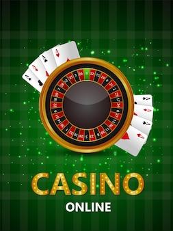 Kreatives casino-glücksspiel mit roulette-maschine