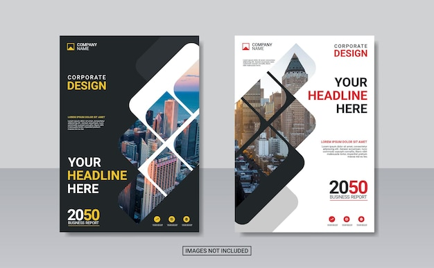 Kreatives corporate-buchcover-design