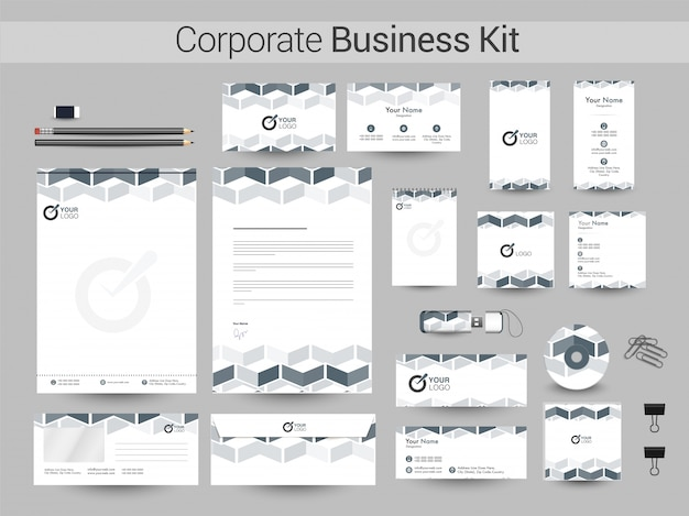 Kreatives corporate business kit