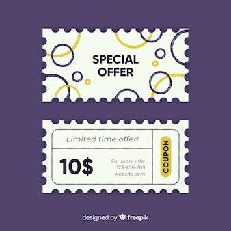 Kreatives coupon-template-design