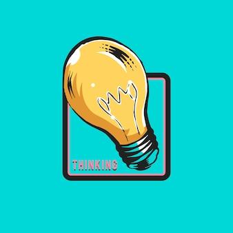 Kreatives denken und neuer ideenkonzeptvektor