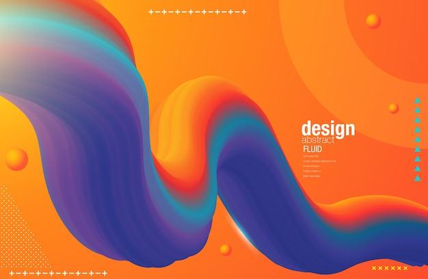 Kreatives design 3d fließen form
