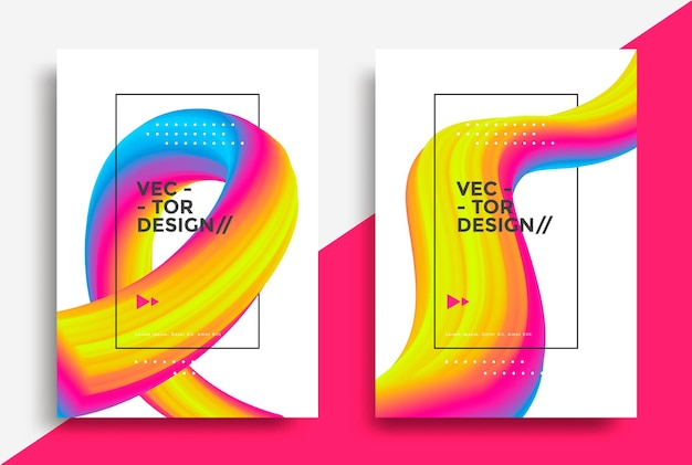Kreatives design 3d-flow-form flüssige welle poster vektor-illustration