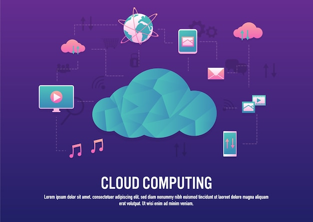 Kreatives design der cloud-computing-technologie