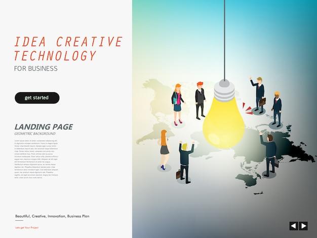 Kreatives design der idee für unternehmen