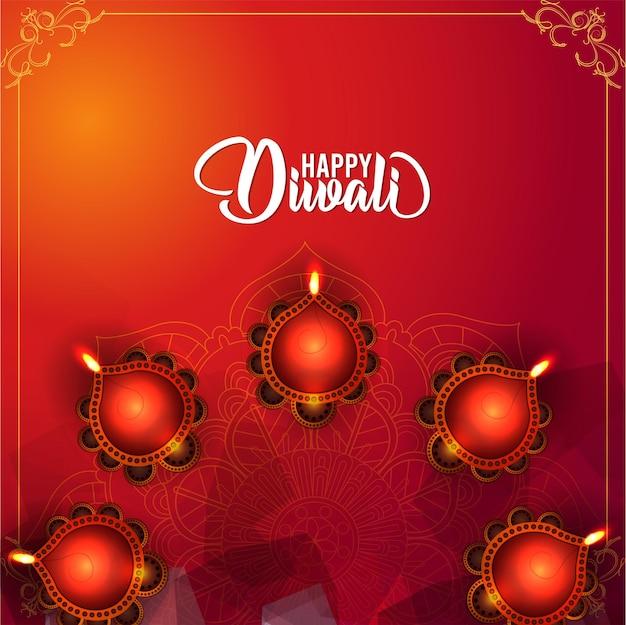 Kreatives design für glückliche diwali