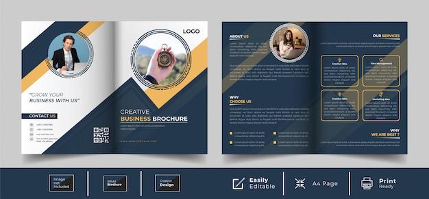 Kreatives design für zweifache broschürenvorlagen