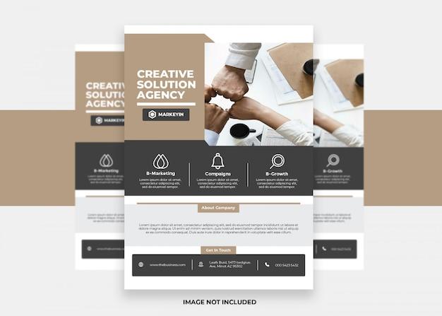 Kreatives design geschäfts-bunte moderne darstellungs-kreativer unternehmensflieger