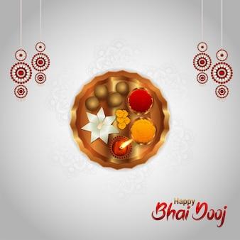 Kreatives designkonzept von happy bhai dooj