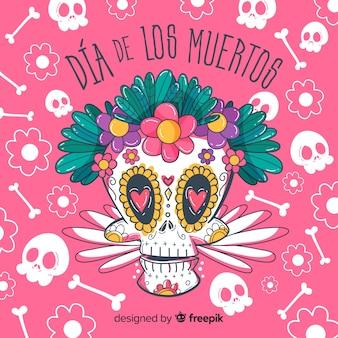 Kreatives dia de muertos-hintergrunddesign