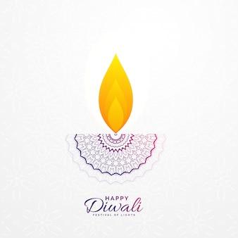 Kreatives diwali diya design für hindisches festival