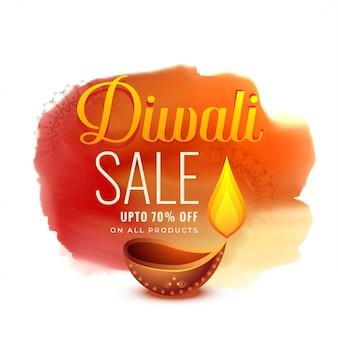 Kreatives diwali festivalverkaufs-fahnendesign