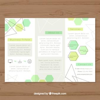 Kreatives dreifach gefaltetes broschürendesign